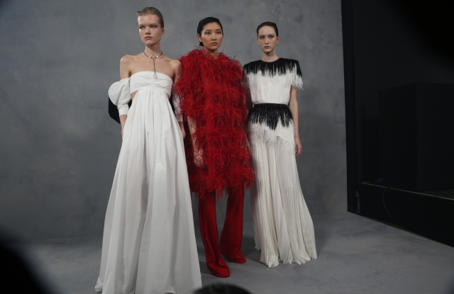 Backstage at Givenchy RTW fall 2020